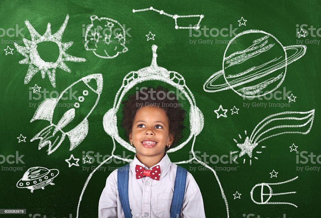 Childhood imagination stock photo
