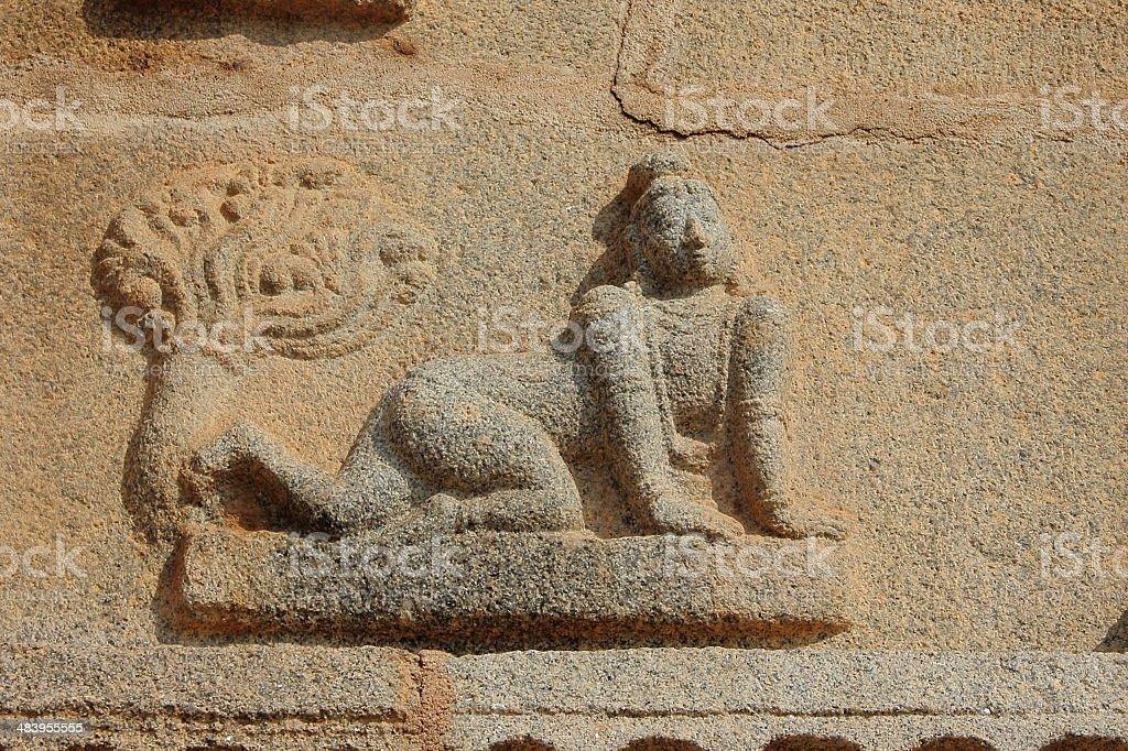 Childhood Krishna sculpture in Krishna temple royalty-free stock photo