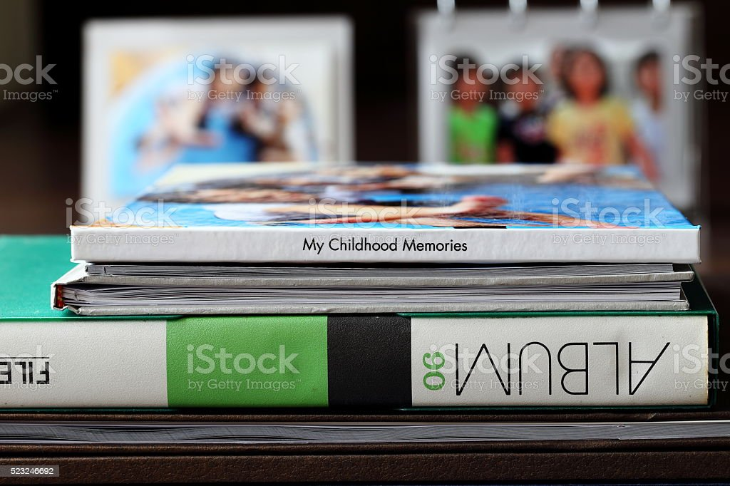 Childhood Memory Photo Albums stock photo