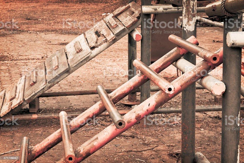 Childhood nostalgia rusty ladder royalty-free stock photo