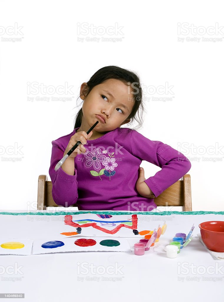 Childhood Painting royalty-free stock photo