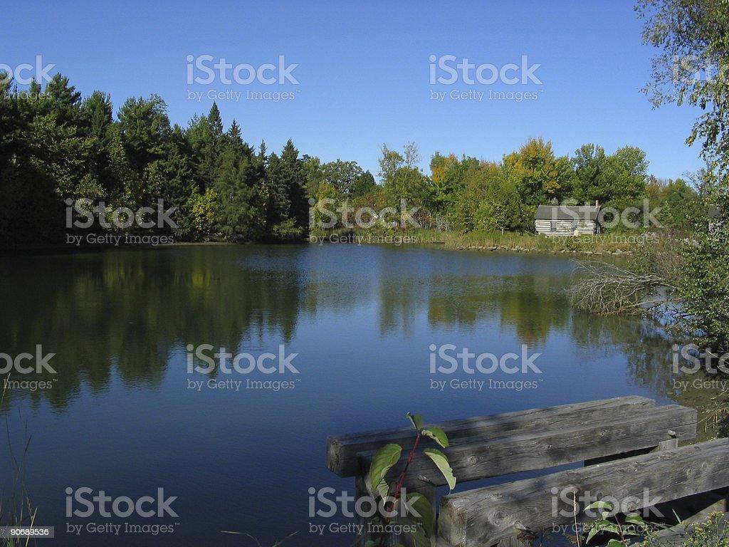 Childhood pond royalty-free stock photo
