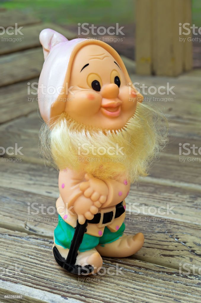 Childly toy gnome stock photo
