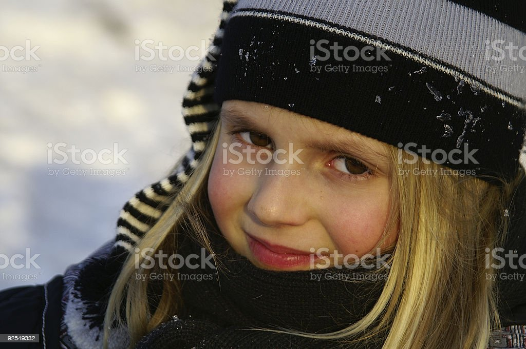 Childportrait in Winter royalty-free stock photo