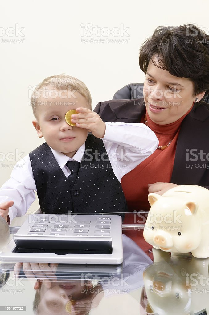 Children and money concept royalty-free stock photo