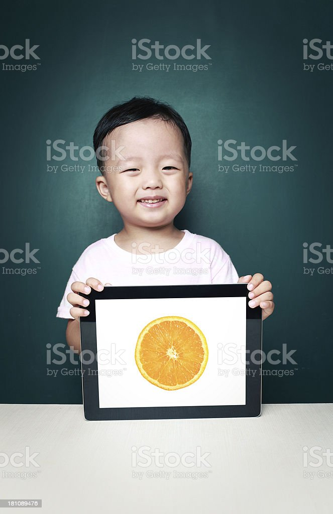 Children and tablet computer royalty-free stock photo