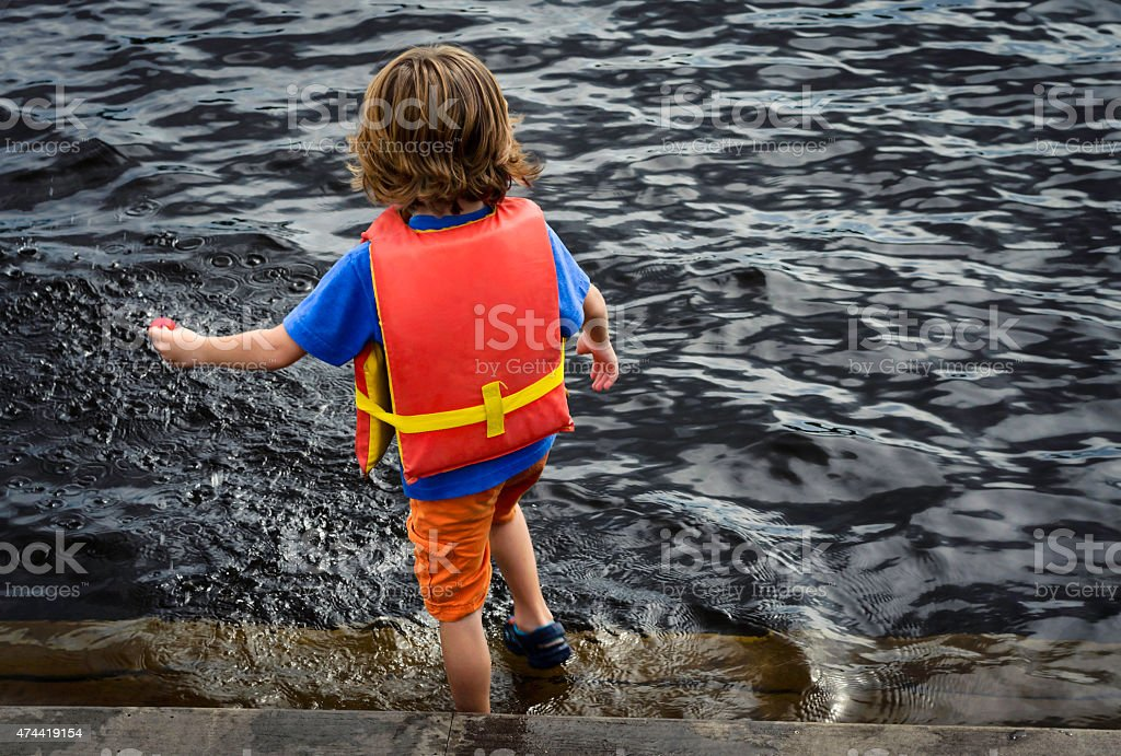 Children and water safety stock photo
