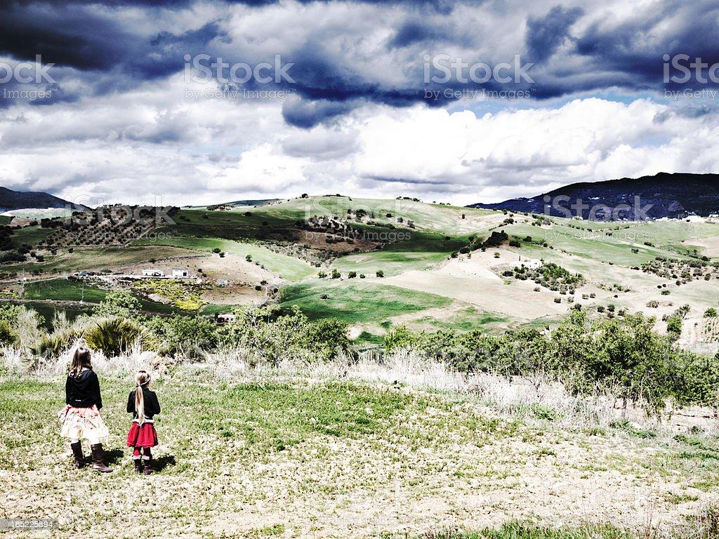 Children  Andalusia stock photo