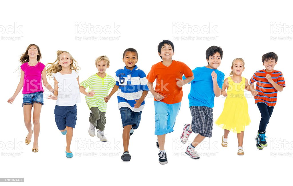 Children are playing together royalty-free stock photo