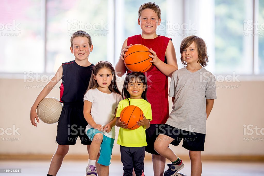 Children at a Sports Day Camp stock photo