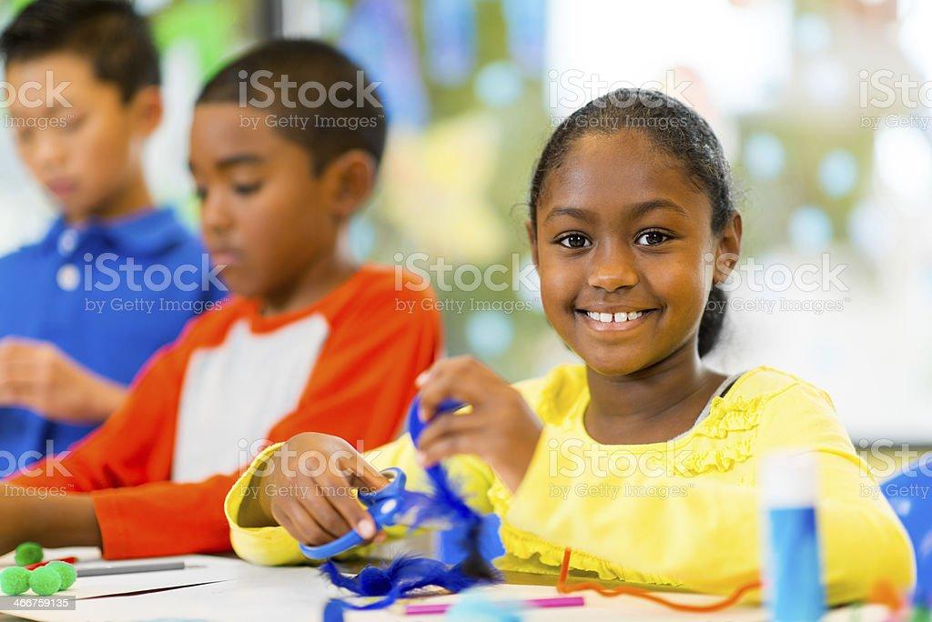 Children at Art Center stock photo