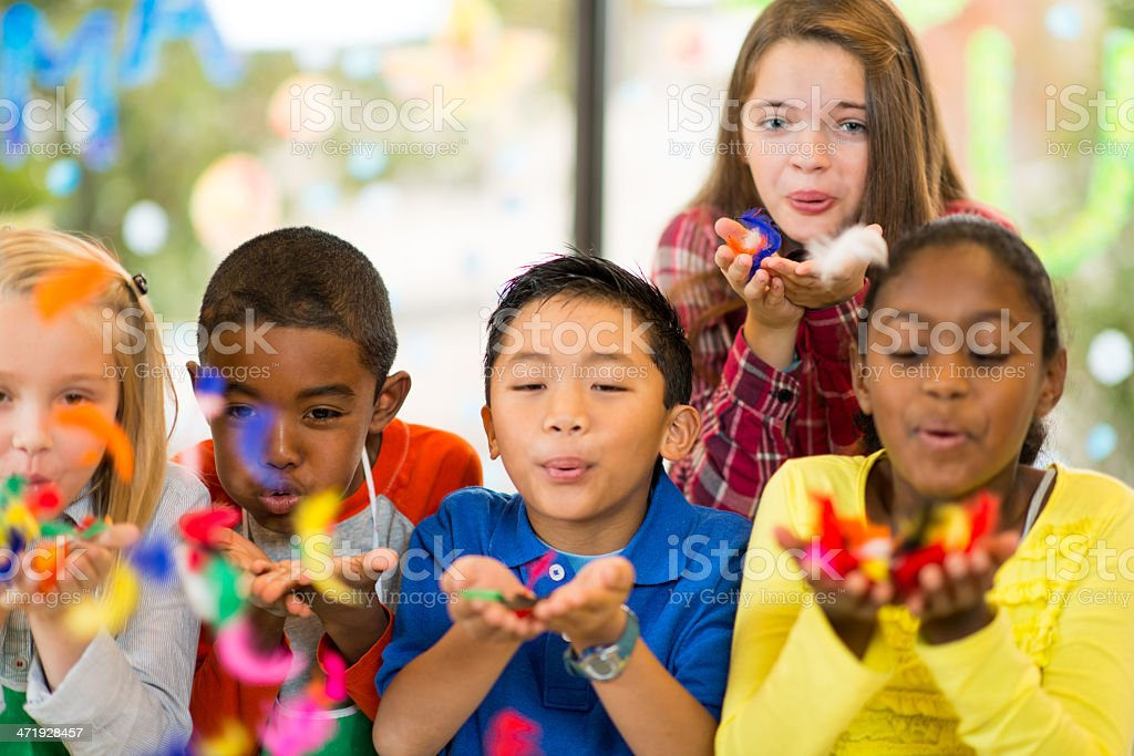 Children at Art Center royalty-free stock photo