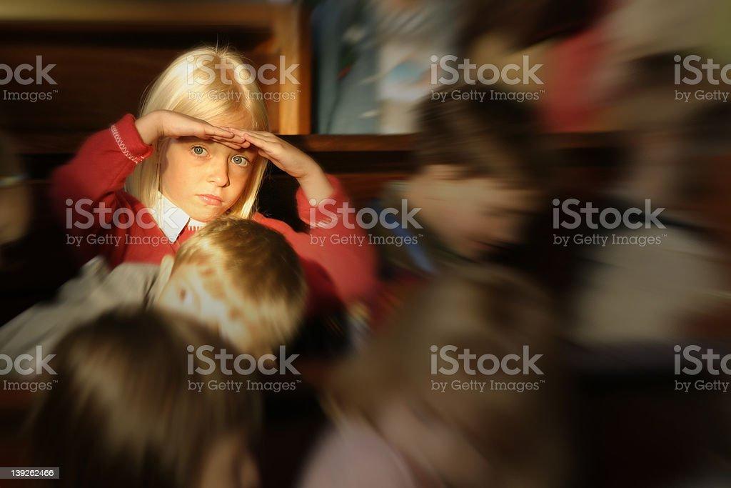 children at church stock photo