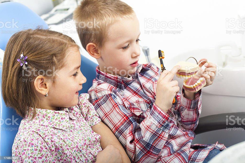 Children at dentist royalty-free stock photo