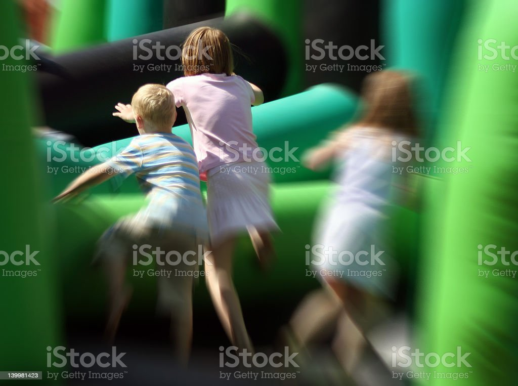 Children at play stock photo