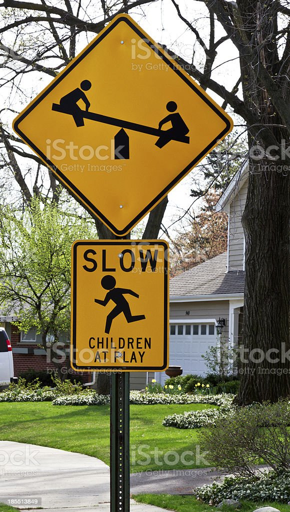 Children at Play Sign royalty-free stock photo