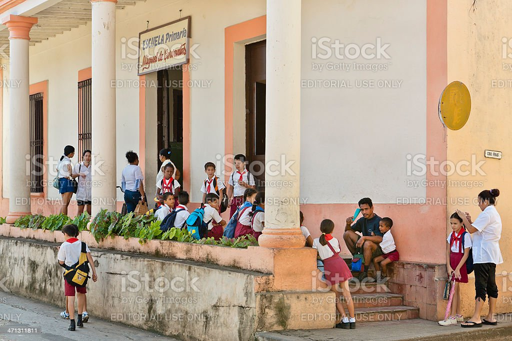 Children at the Primary School, Cuba royalty-free stock photo