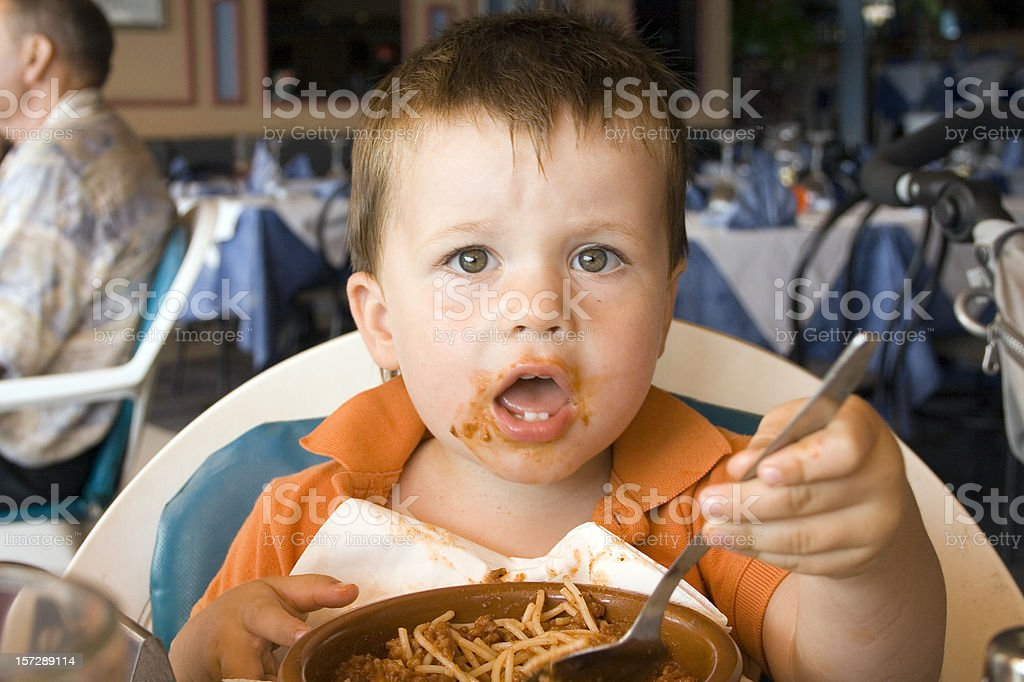 children at the restaurant royalty-free stock photo