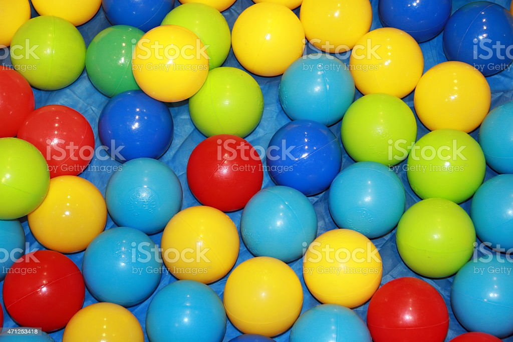 Children balls stock photo