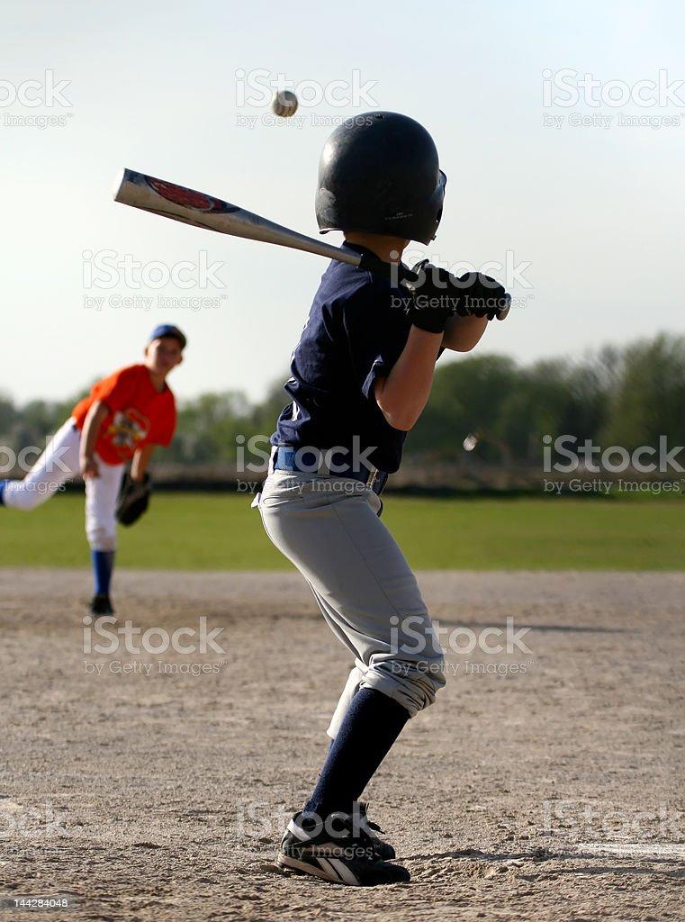 Children baseball game stock photo