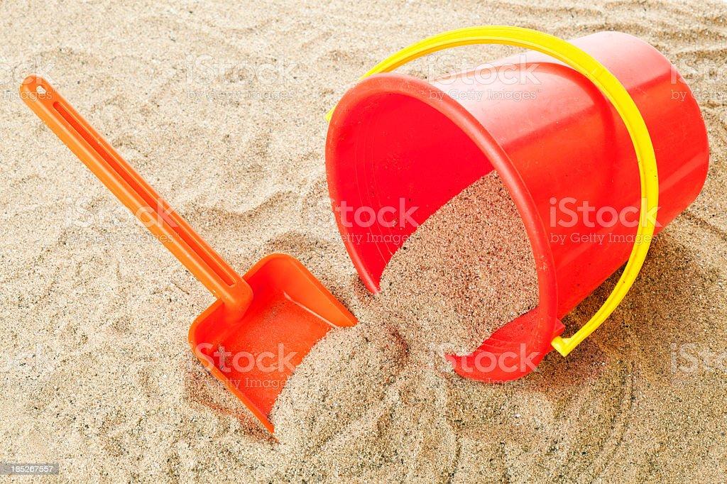 Children beach toys stock photo