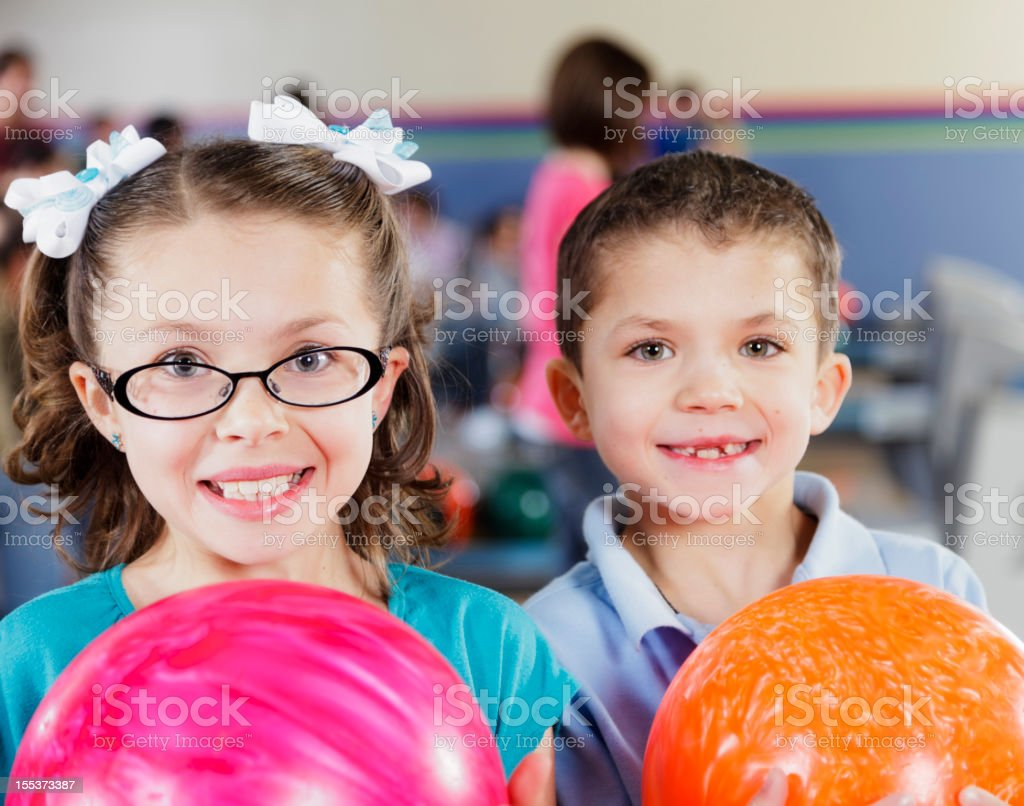 Children Bowlers stock photo