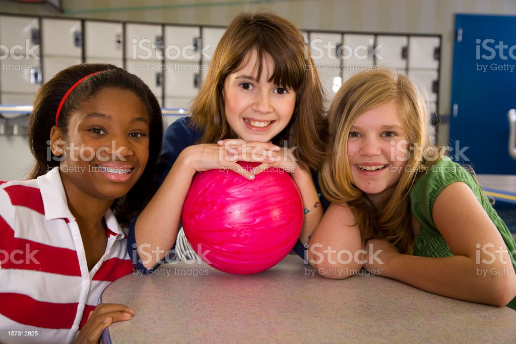 Children Bowling Series stock photo