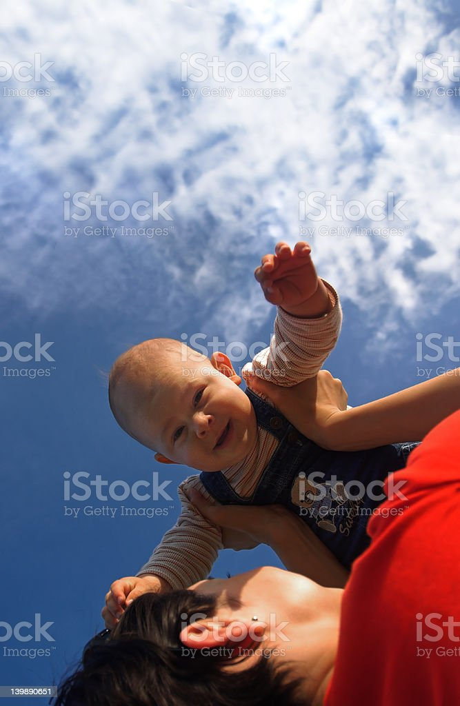 Children can fly stock photo