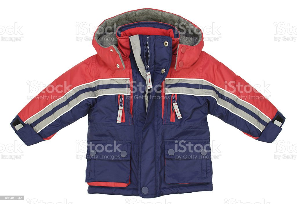 Children clothes: Boys winter jacket royalty-free stock photo