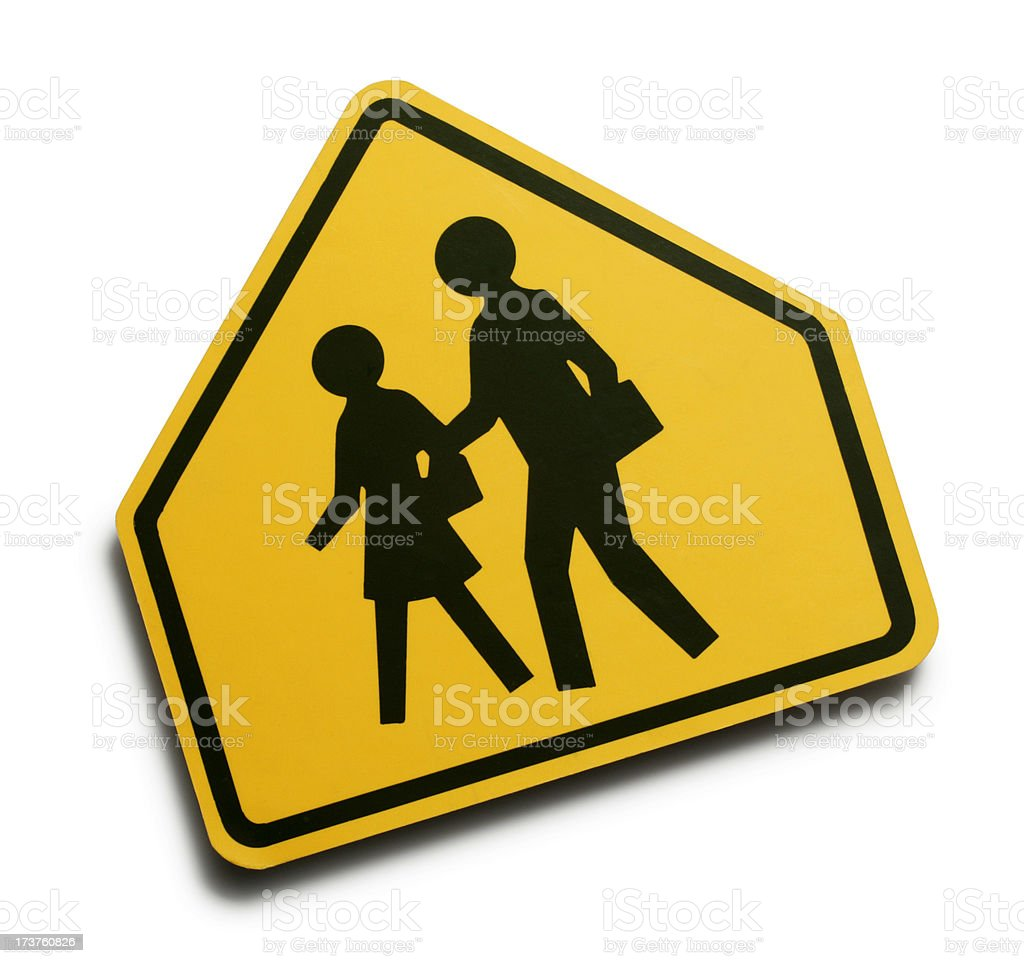 Children Crossing royalty-free stock photo