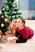 Children Decorating a Small Christmas Tree