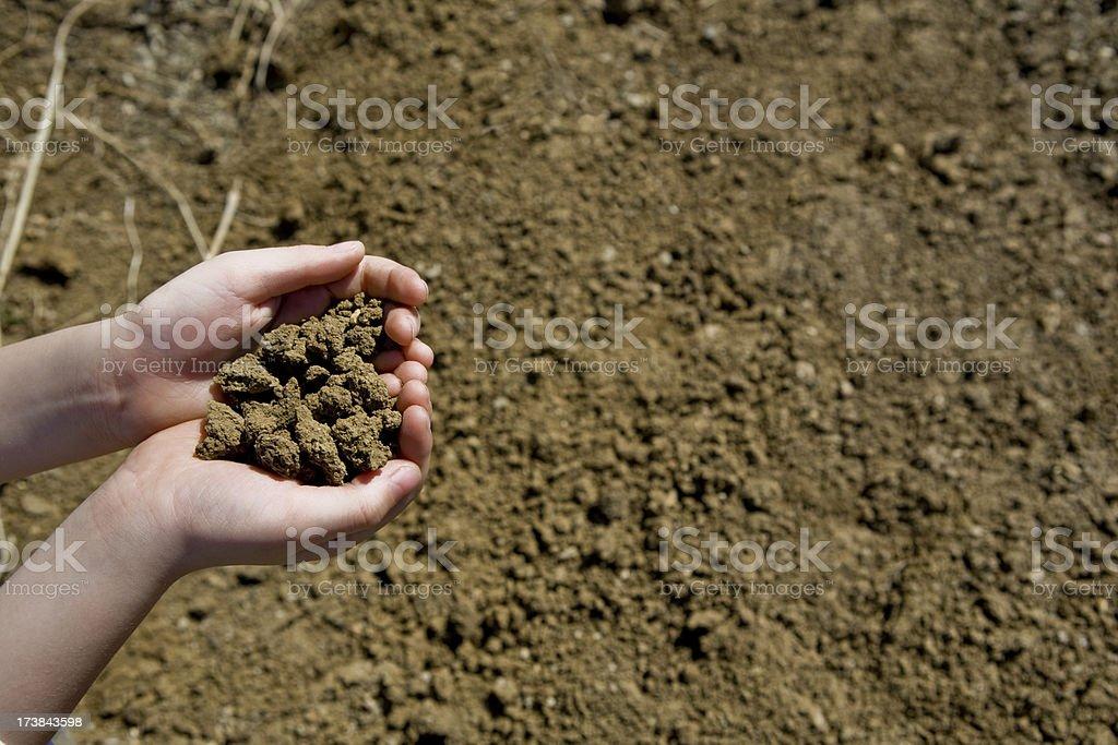Children Dirt Handful Series royalty-free stock photo