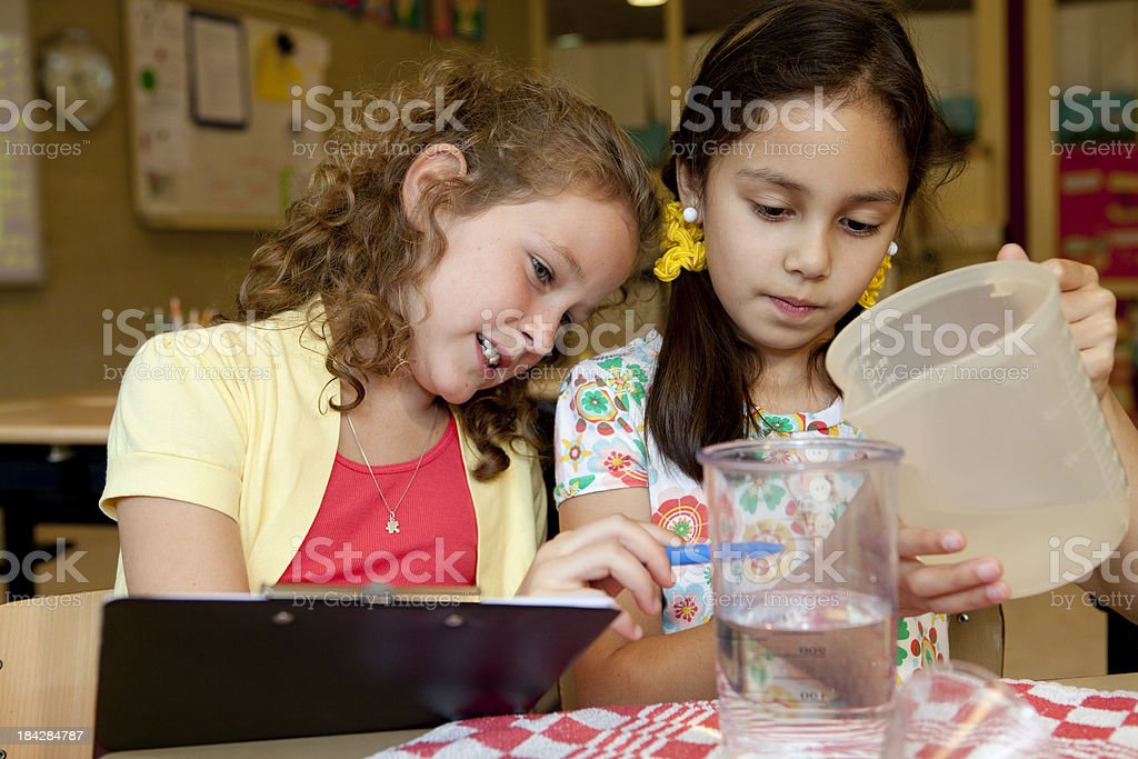 Children do experiments. royalty-free stock photo