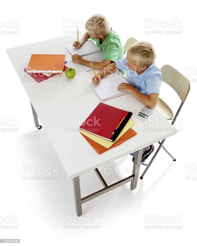 Children Doing Their Homework stock photo