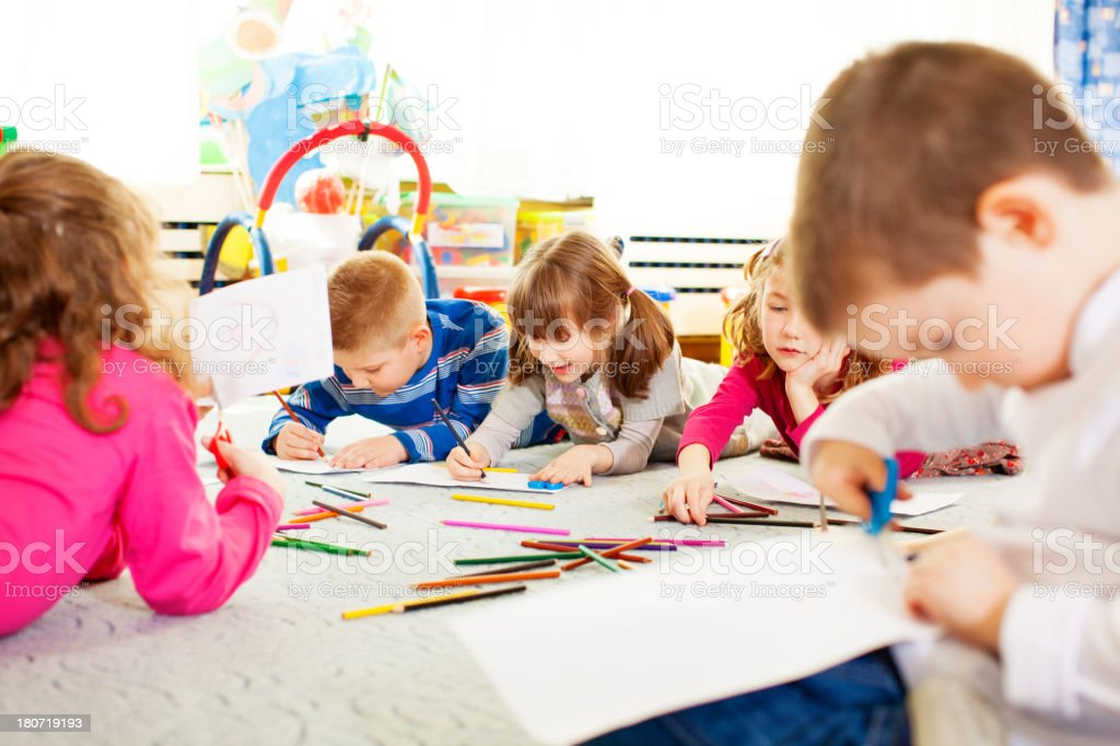 Children drawing and coloring. royalty-free stock photo