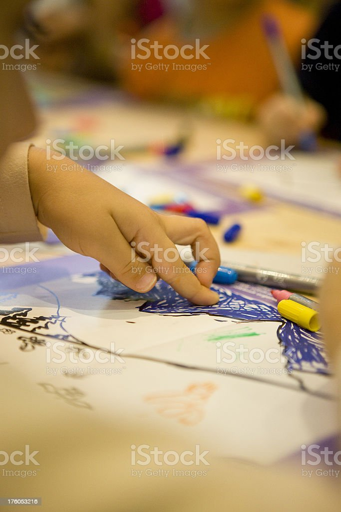 Children drawing royalty-free stock photo