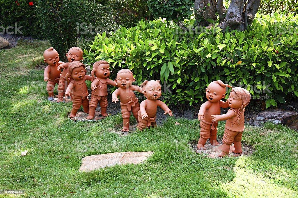 Children earthenware stock photo