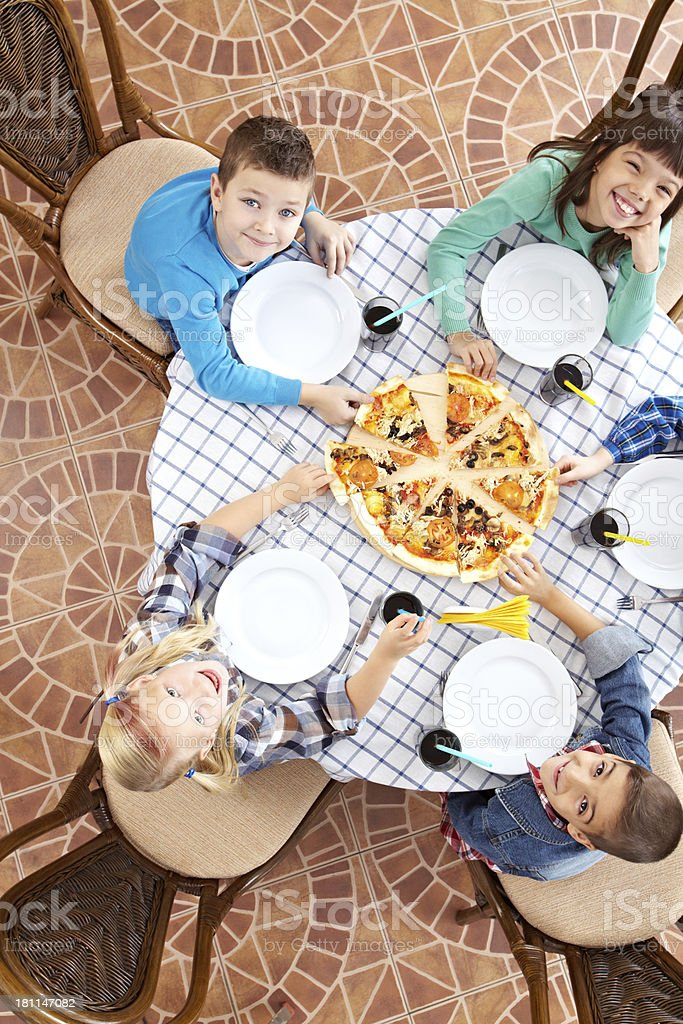 Children eating royalty-free stock photo