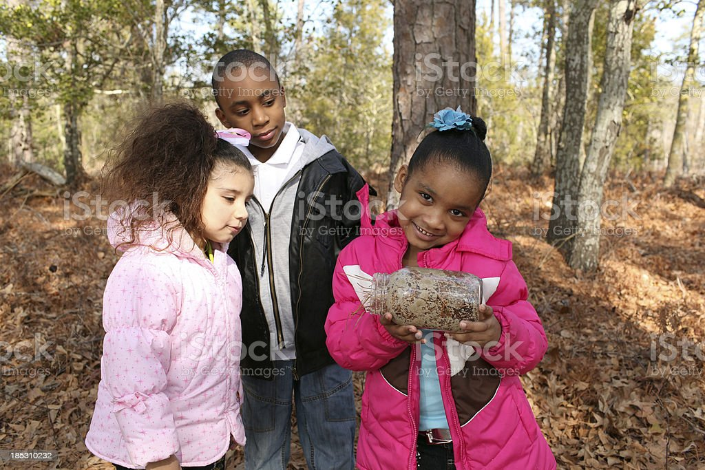 Children exploring Nature royalty-free stock photo