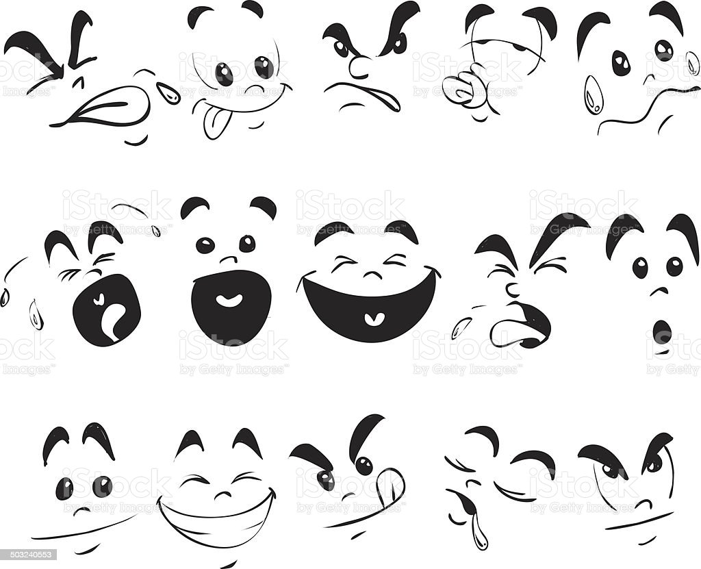 Children Face Expression Doodle royalty-free stock photo