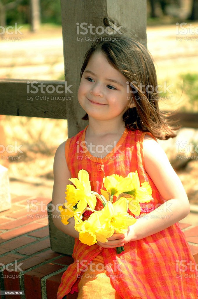 Children - Flower Girl royalty-free stock photo