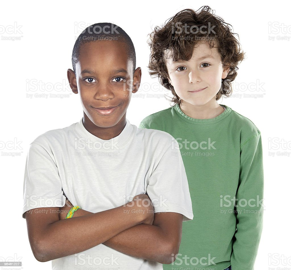 Children friends stock photo