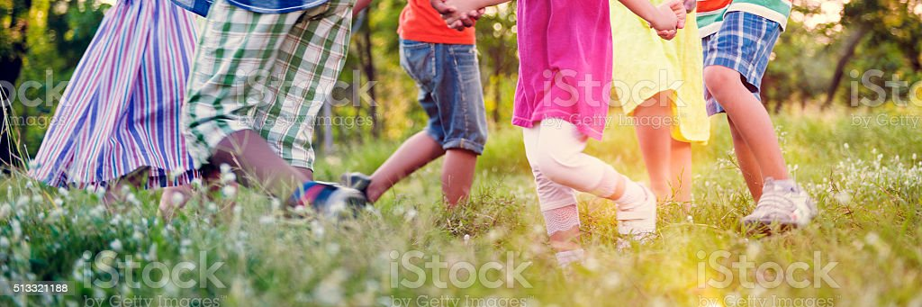 Children Friends Playing Playful Active Concept stock photo