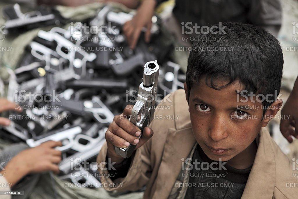 Children games in Yemen stock photo