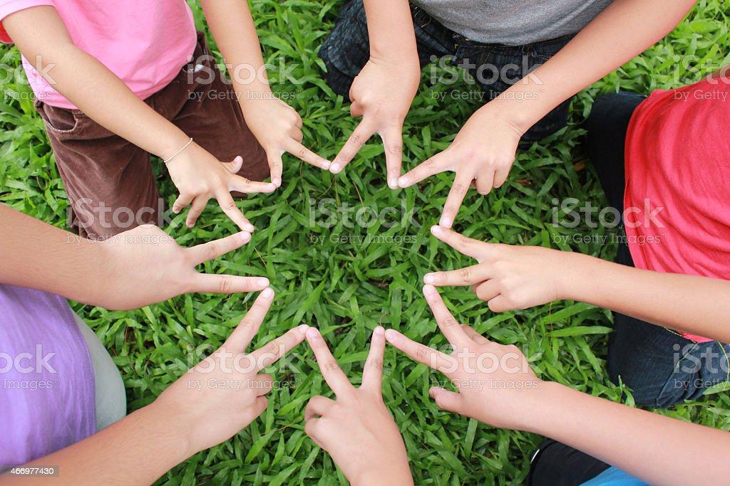 Kinder Hände Lizenzfreies stock-foto