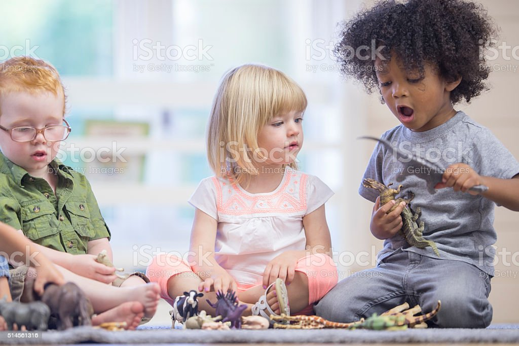 Children Happily Playing Together stock photo