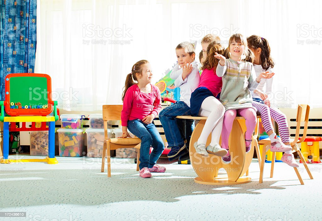 Children Having Fun in Preschool. royalty-free stock photo
