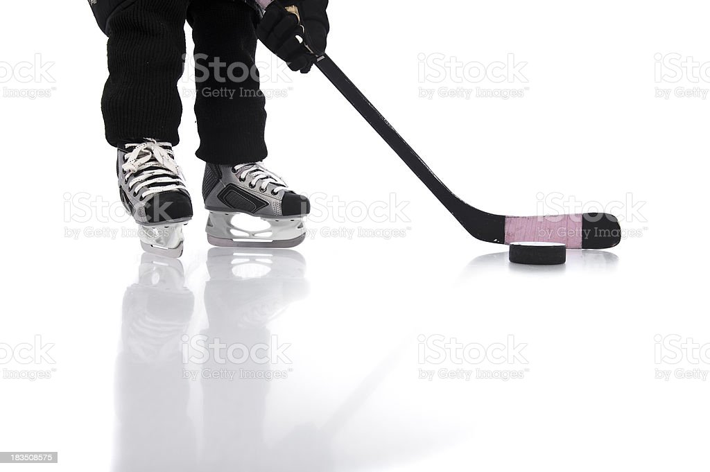 children hockey skate puck royalty-free stock photo