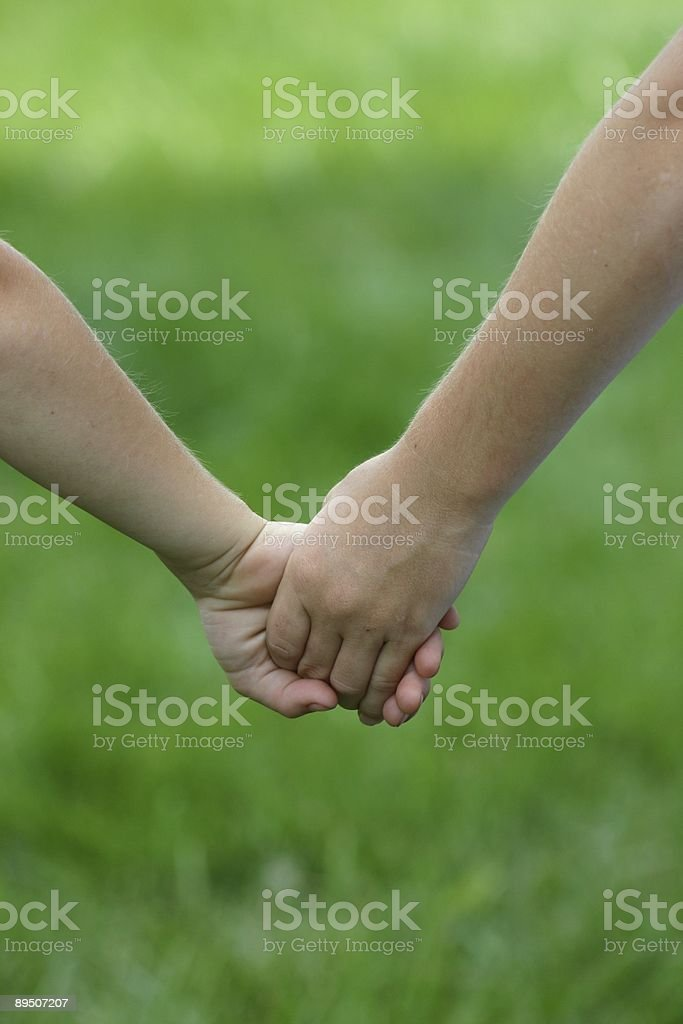 Children Holding Hands royalty-free stock photo