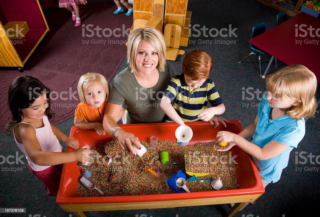 Children in a Preschool royalty-free stock photo